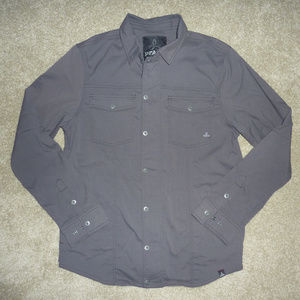 Prana Dress Shirt / zip front, snap button Jacket